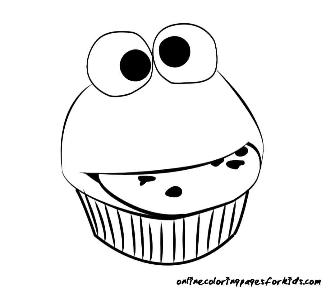 Cartoon Coloring Pages Cute Cupcakes - Coloring Pages For ...