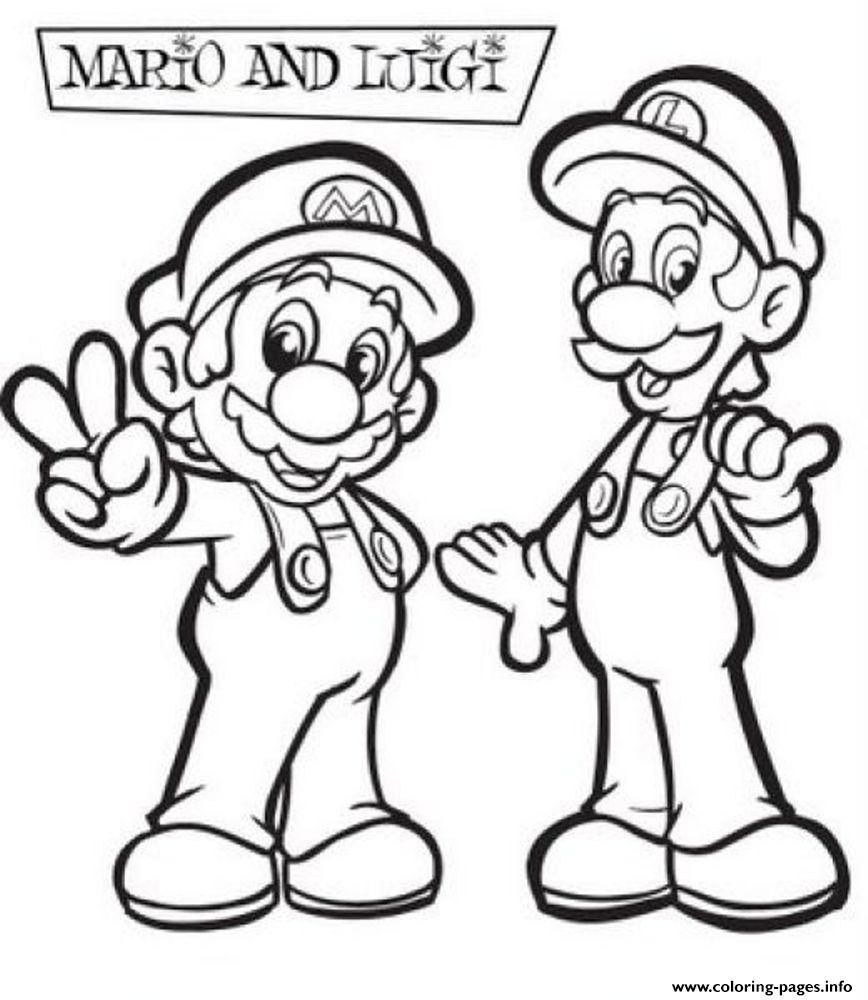 Print Mario And Luigi Coloring Pages Coloring Home