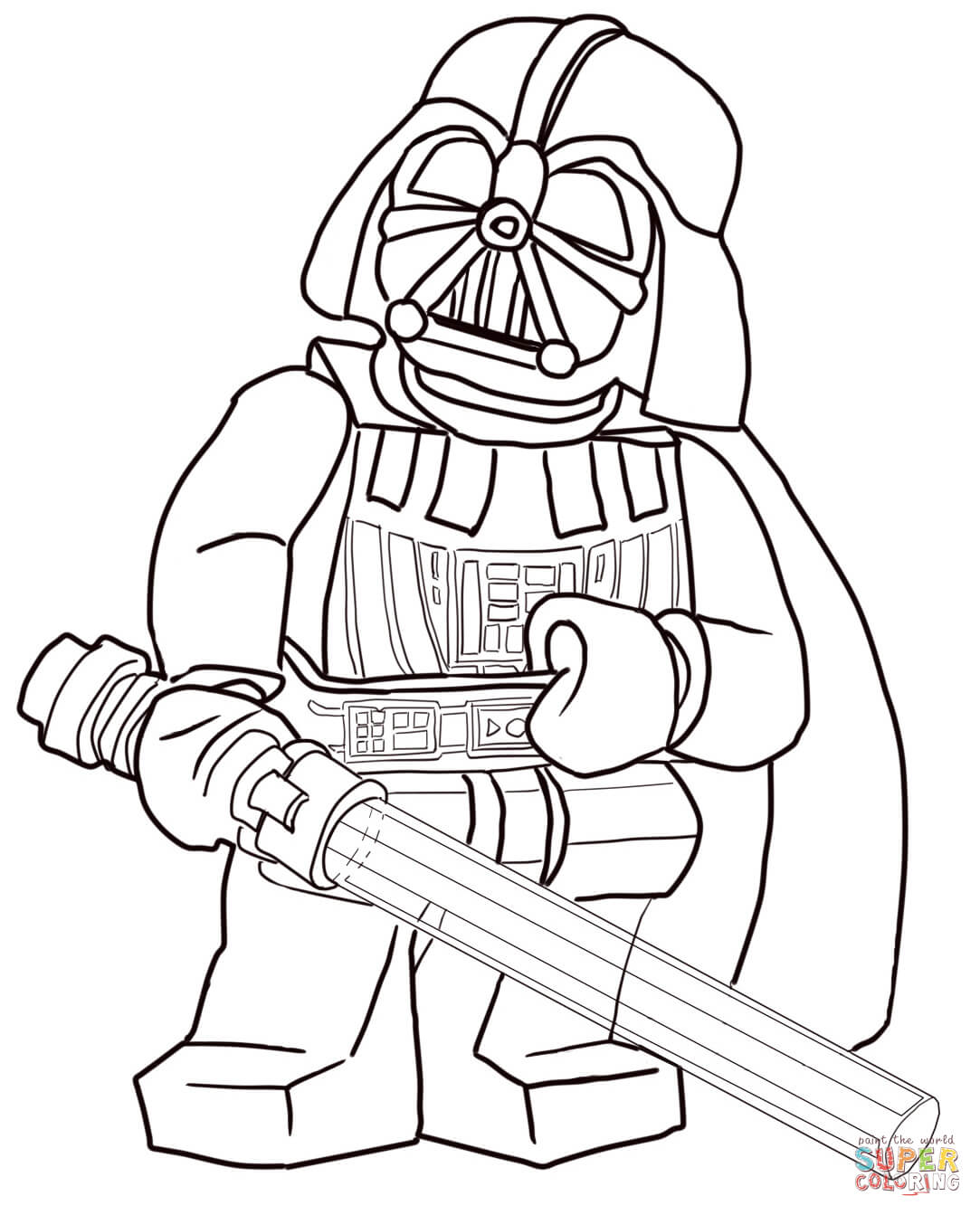 Star Wars Coloring Pages Pdf : Lego star wars darth vader coloring page free printable