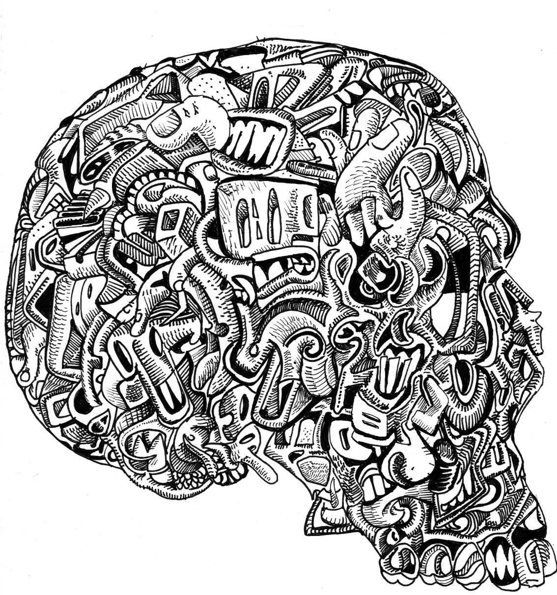 11 Pics Of Hard Skull Coloring