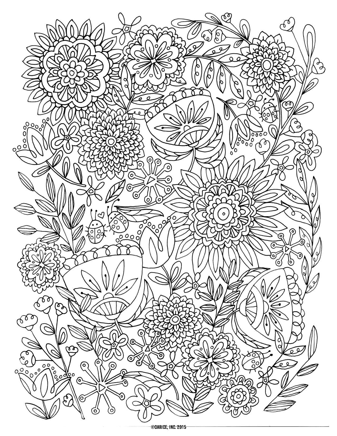 Flower Coloring Pages For Adults - Coloring Home