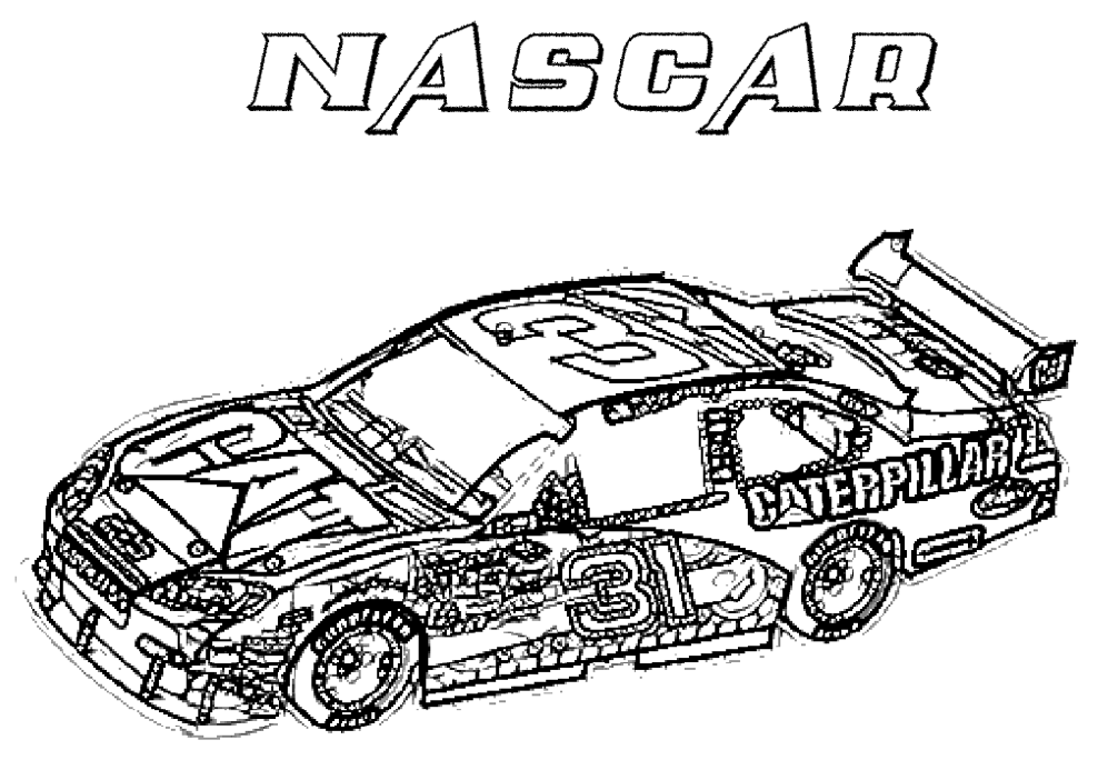coloring pages race track - photo #15