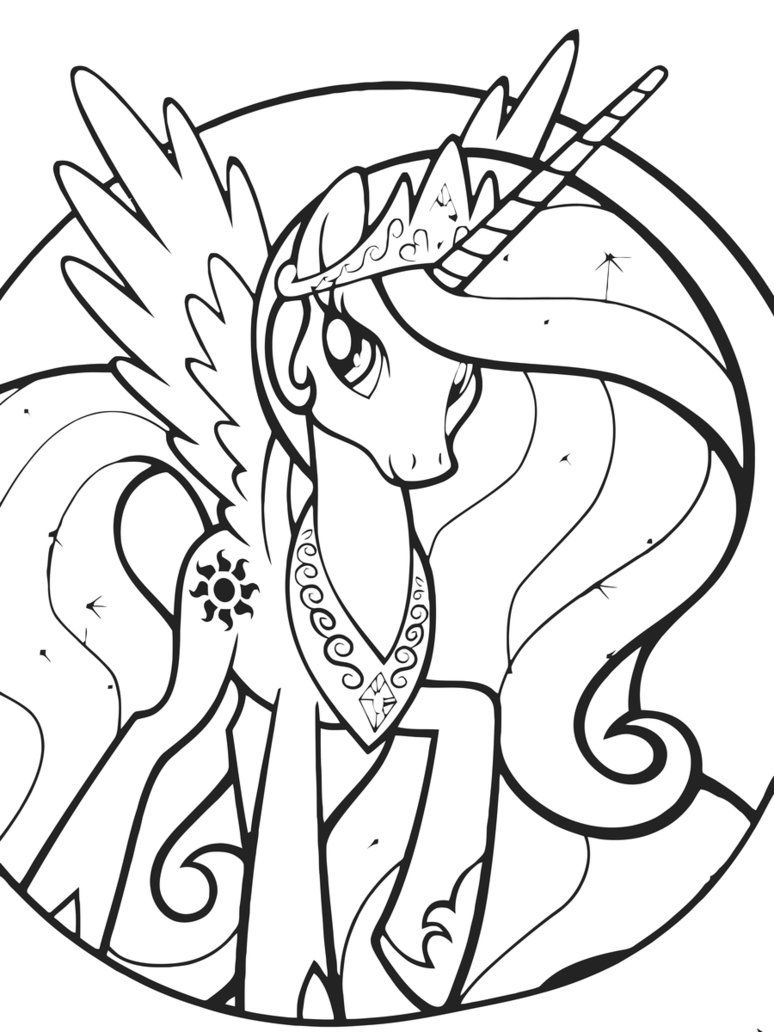 Coloring Pages Of Princess Luna : Princess luna coloring pages az