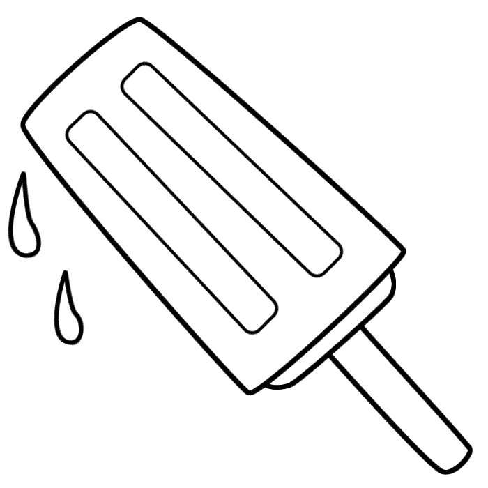 Popsicle Coloring Page - Coloring Pages for Kids and for Adults