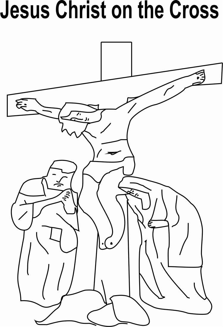 Jesus On Cross Coloring Page AZ Coloring Pages