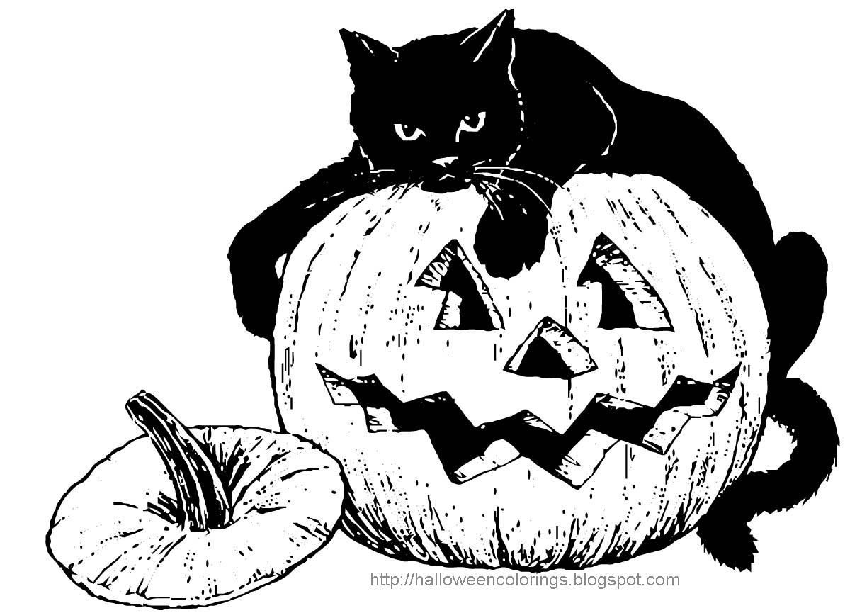 Printable Adult Coloring Pages Halloween - Coloring Home