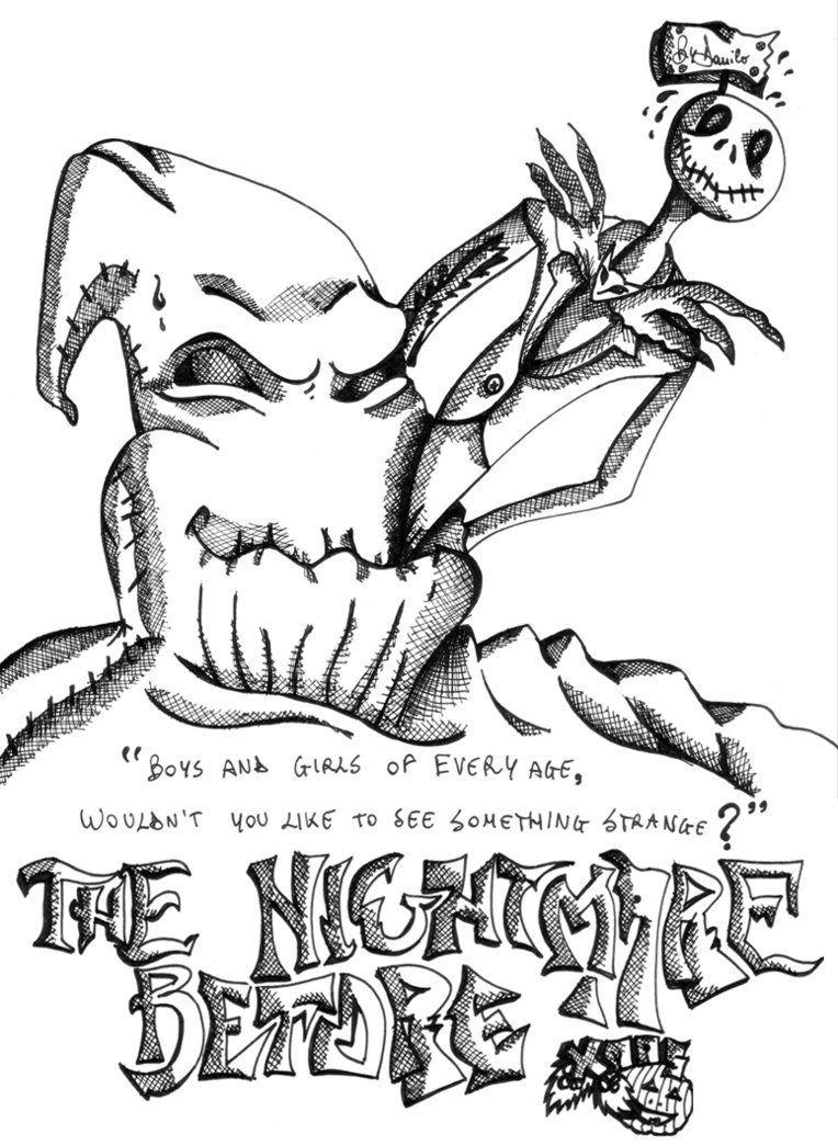 Nightmare before christmas coloring pages to print for Nightmare before christmas coloring pages