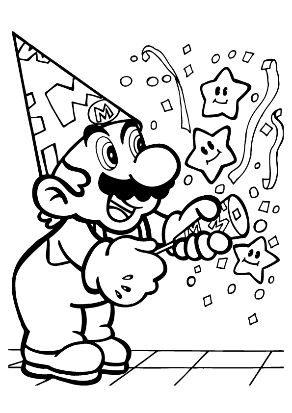 mario characters coloring pages - photo#25