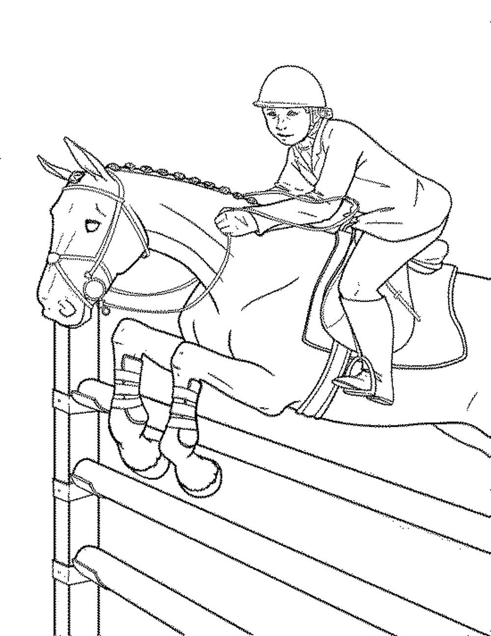 Coloring pages printable horse - Horse Coloring Pages For Girls Printable Kids Colouring Pages