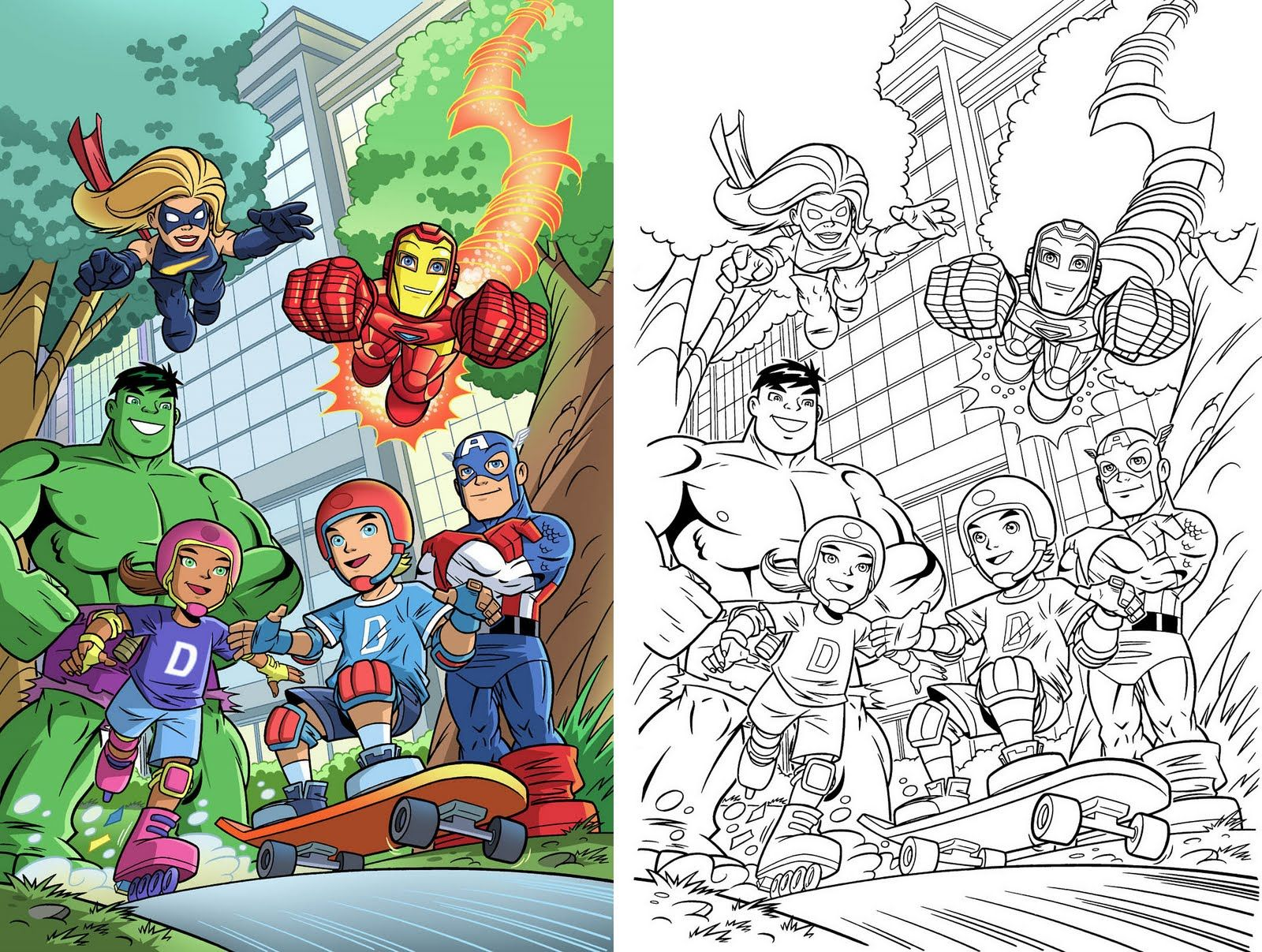 Marvel Malvorlagen Marvel Superhero The Marvel Super: Marvel Super Hero Squad Az Coloring Pages