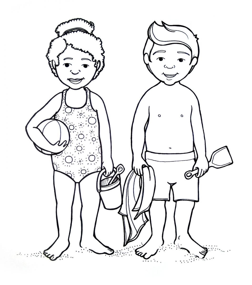 preschool body coloring pages - photo#12