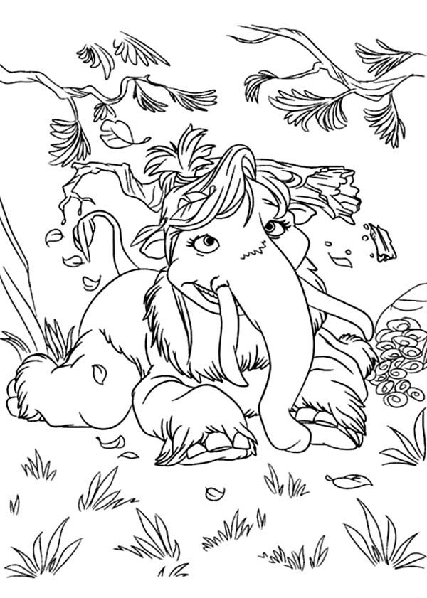 Ice Age Mammoth Coloring Pages - Coloring Home