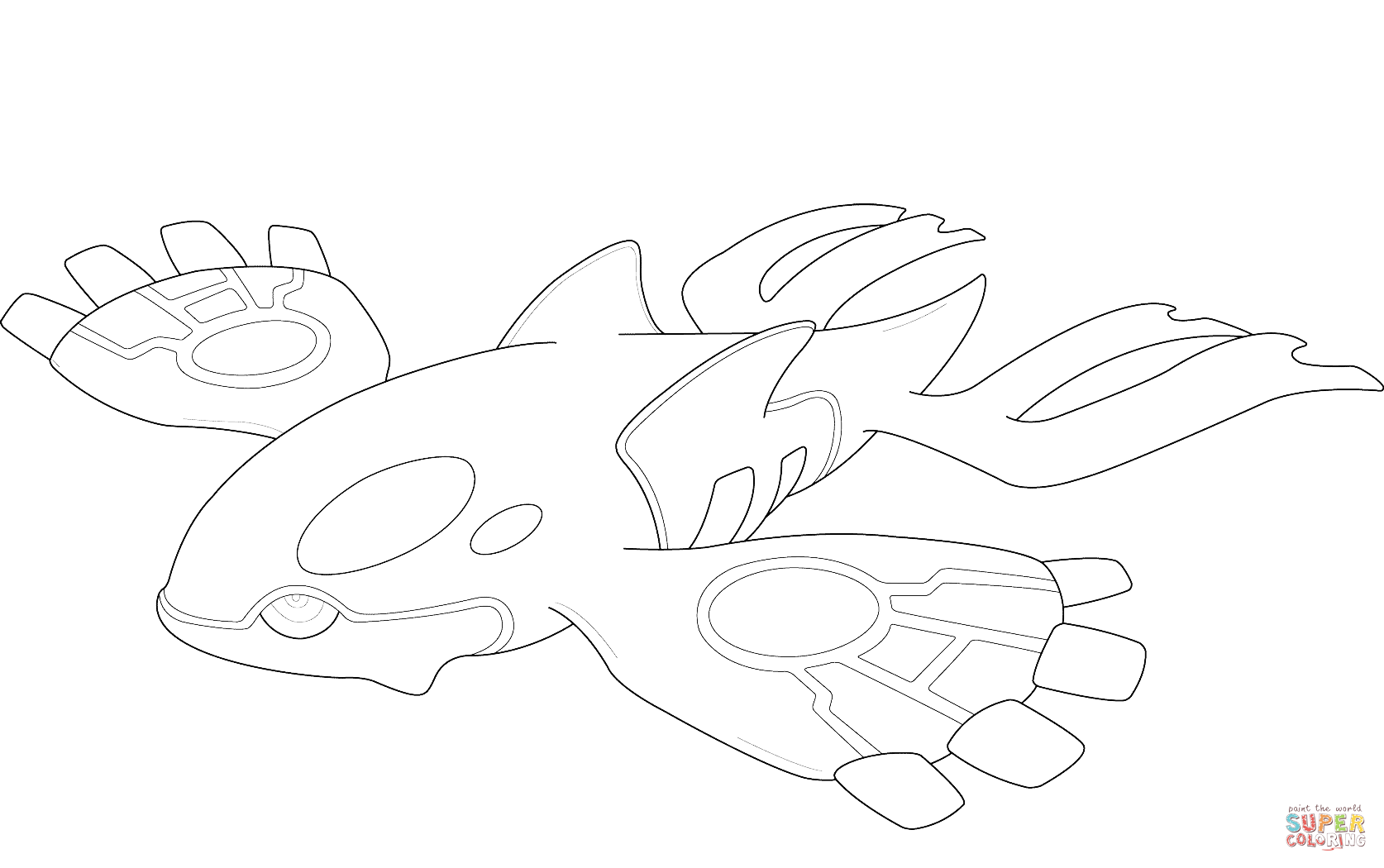 Coloring pages pokemon easy - Kyogre Pokemon Coloring Page Free Printable Coloring Pages