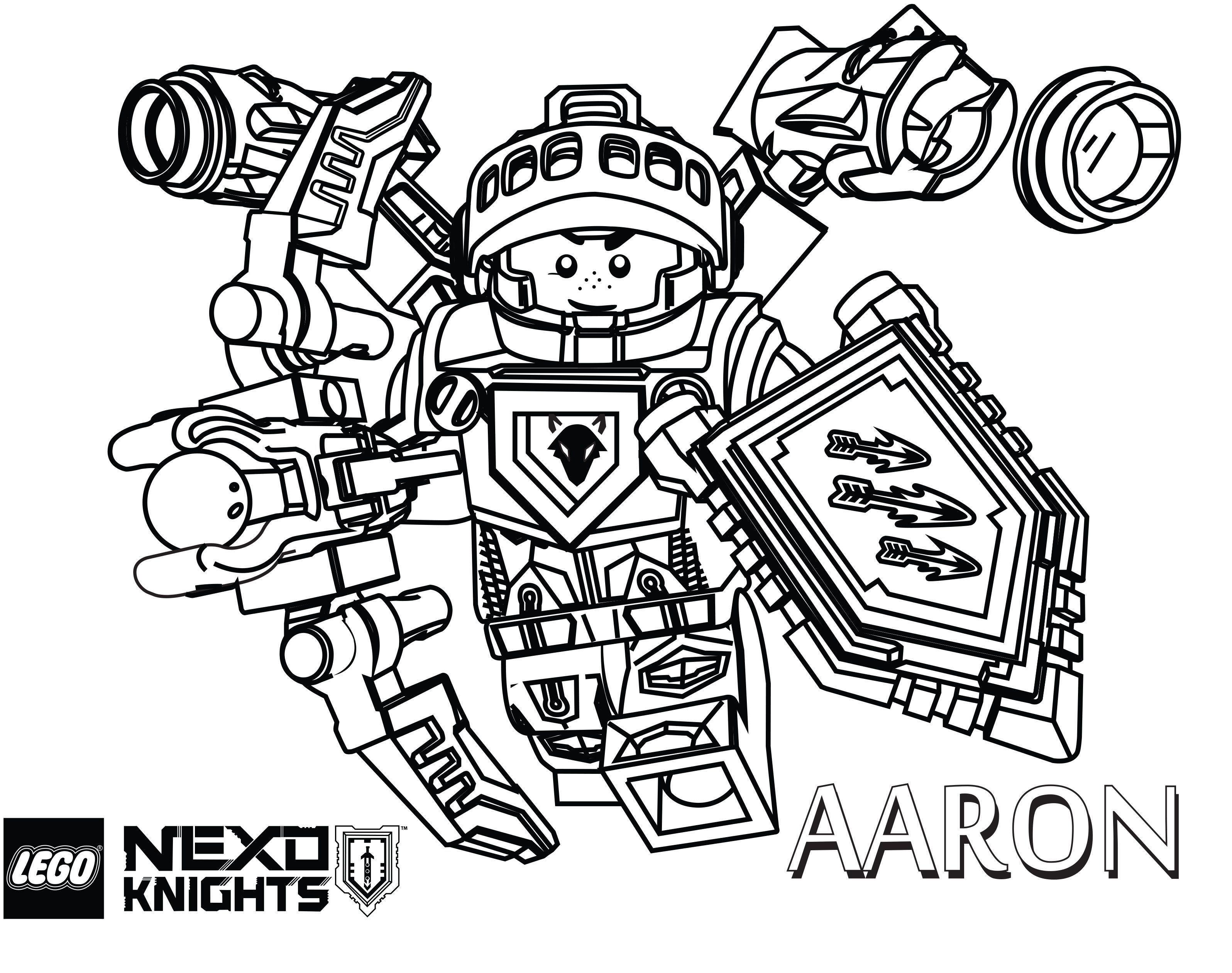 LEGO Nexo Knights Coloring Pages - The Brick Fan