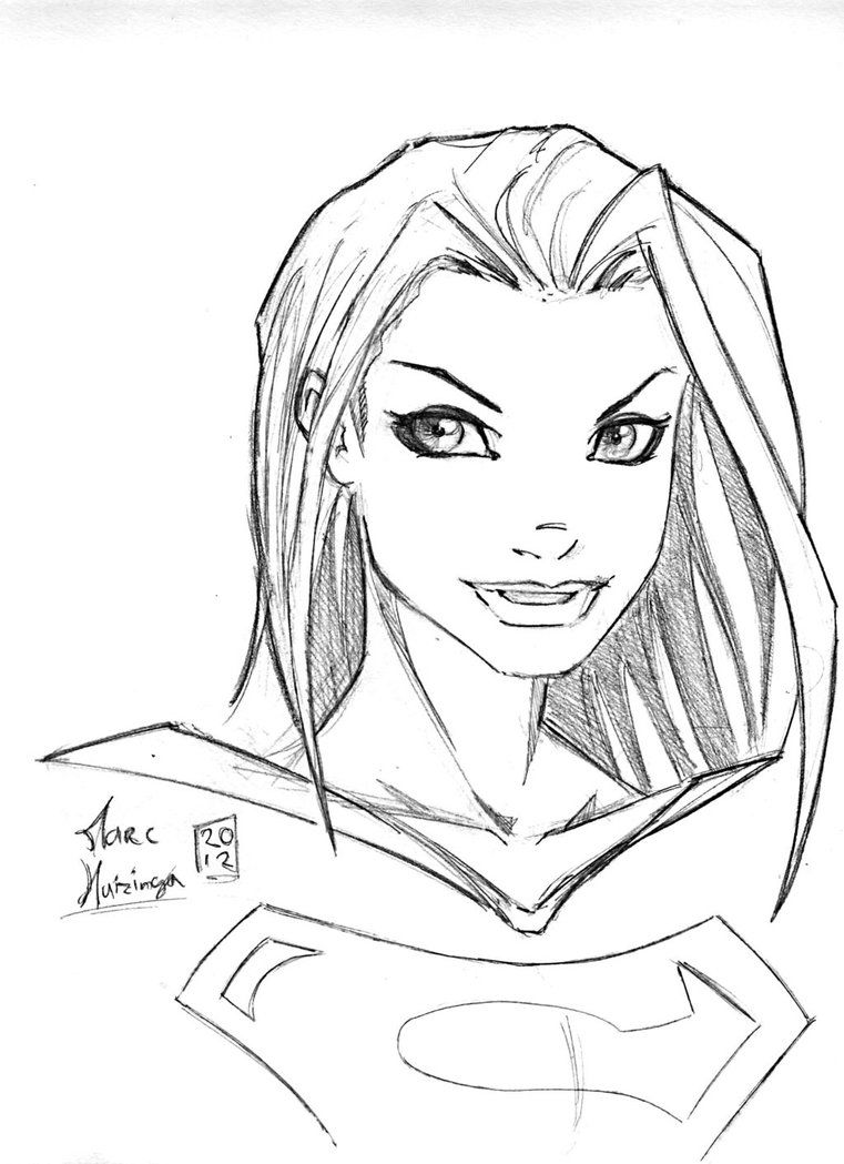 supergirl coloring page coloring home