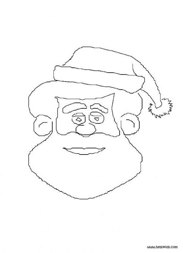 santa claus coloring pages santas face printable
