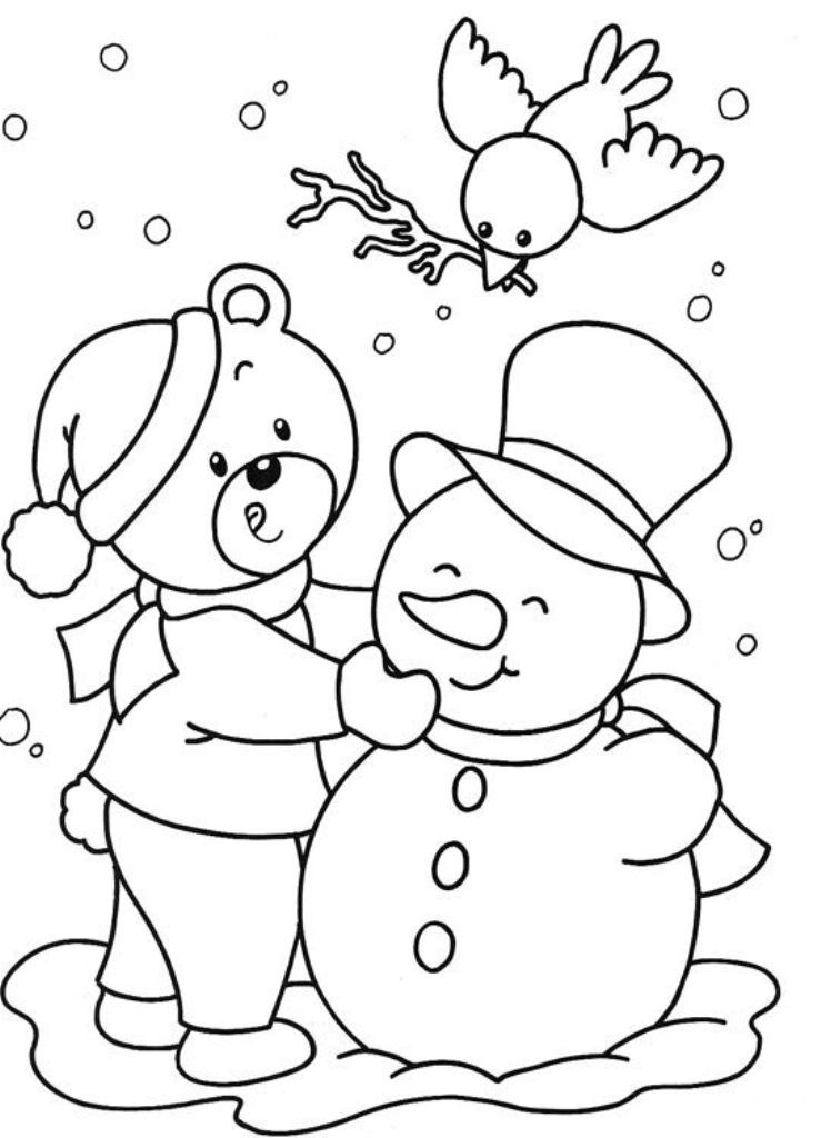kids winter coloring pages online cooloring printable. free winter ... | 1024x739