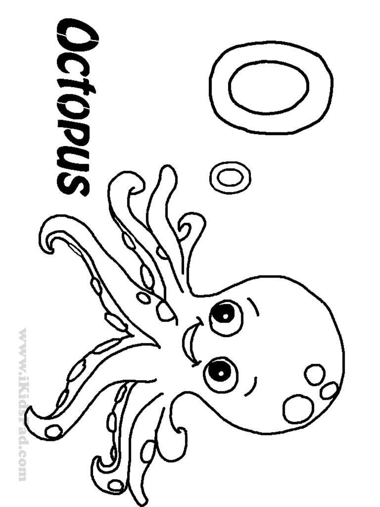 O Octopus Coloring Page Coloring Pages Of Octo...