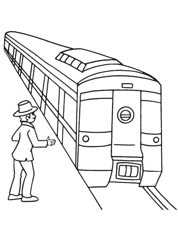 Passenger waiting for metro coloring page | Download Free ...