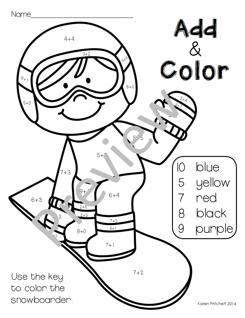 Winter Olympics Flags Coloring