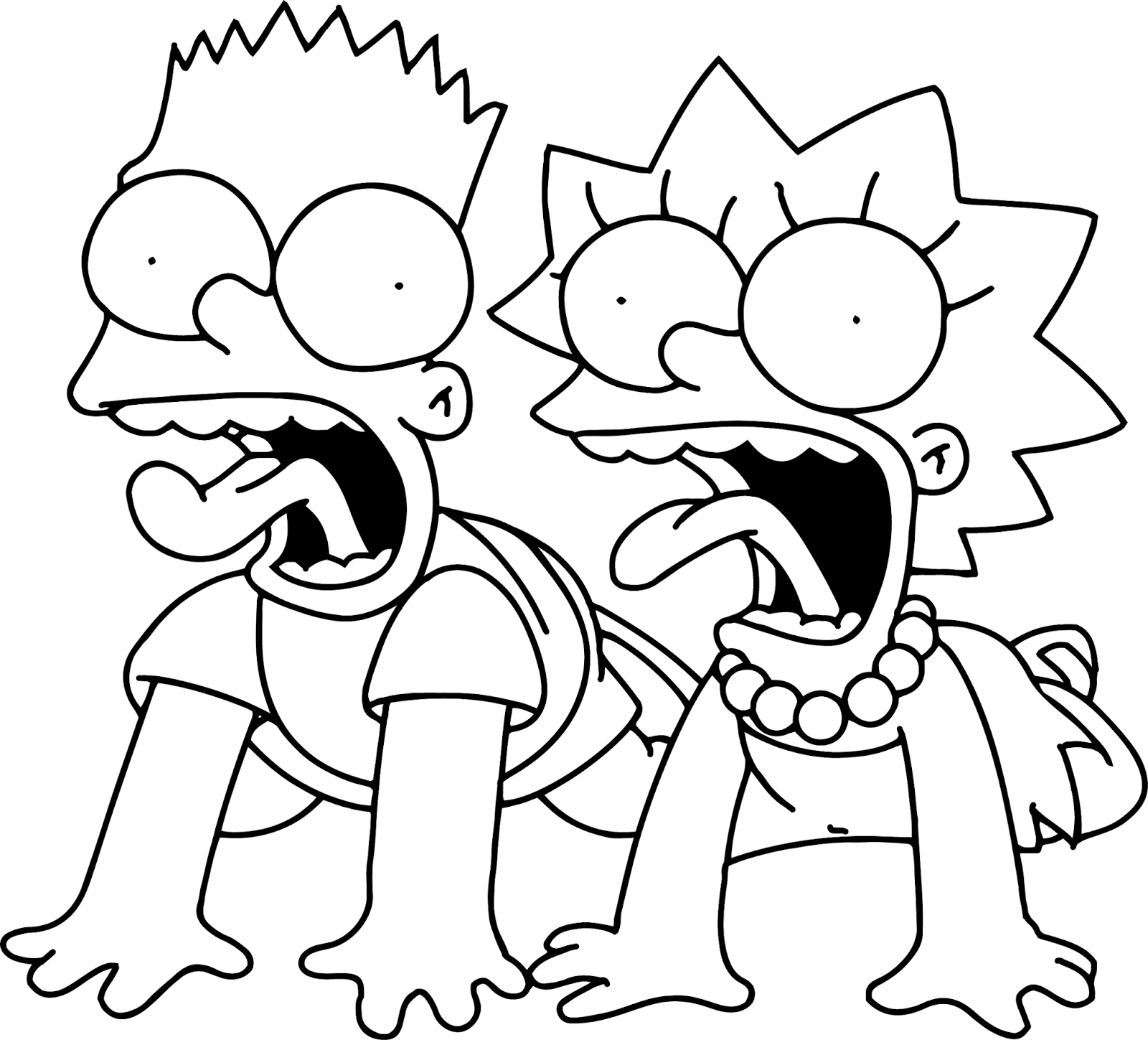 Simpsons Coloring Pages To Print Out Coloring Home