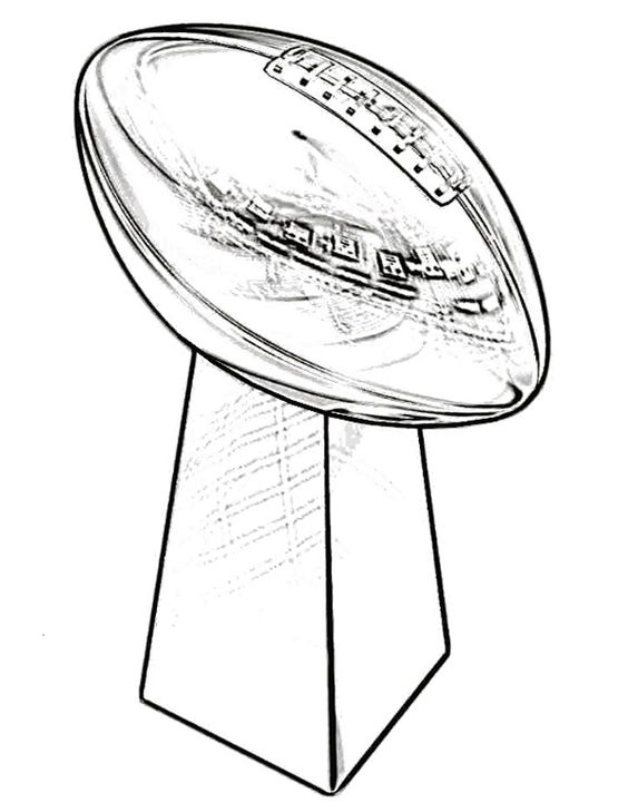 Superbowl Trophy Coloring Page