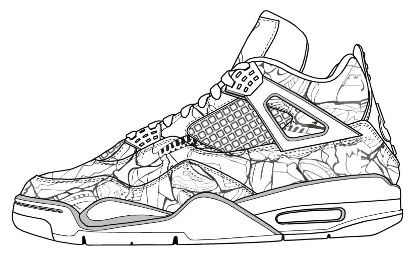 jordans shoes coloring pages - photo#3
