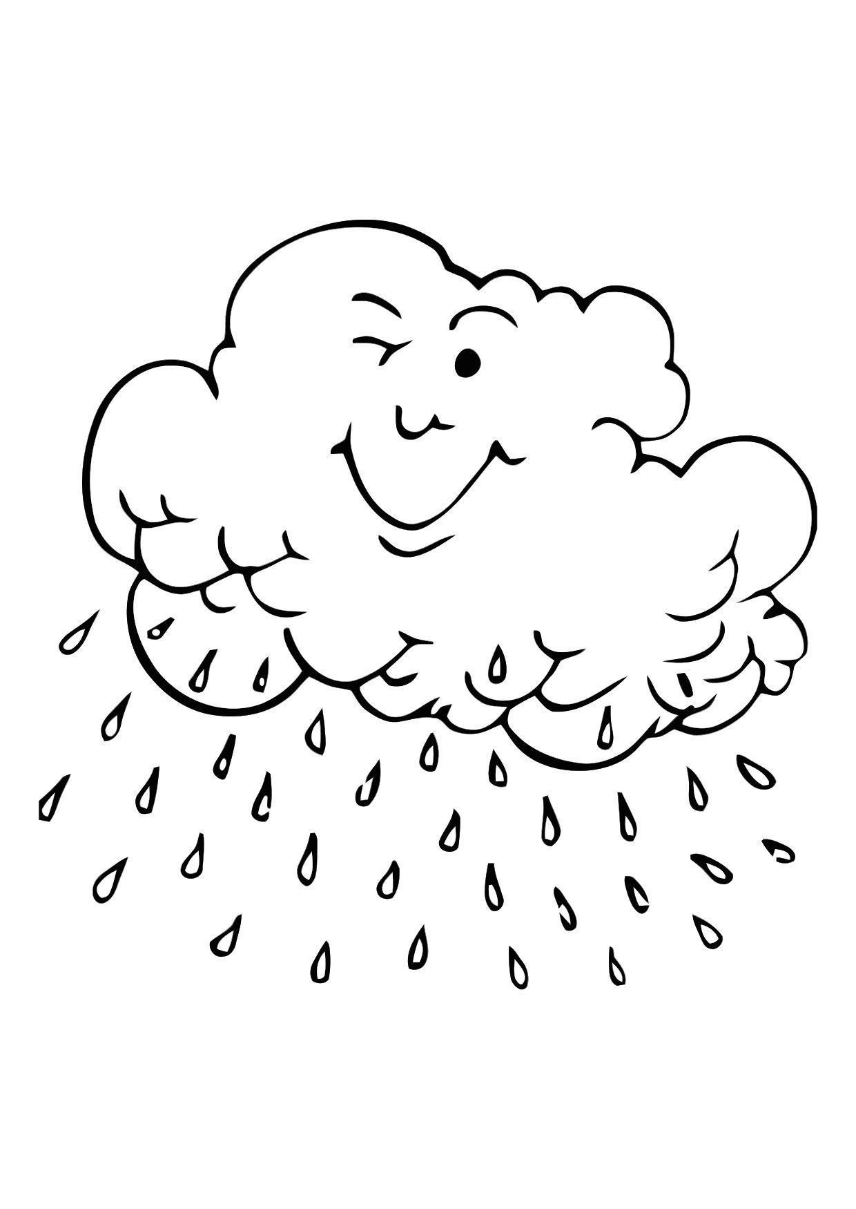 Coloring pages rainy day - Rain Coloring Pages For Kids And For Adults