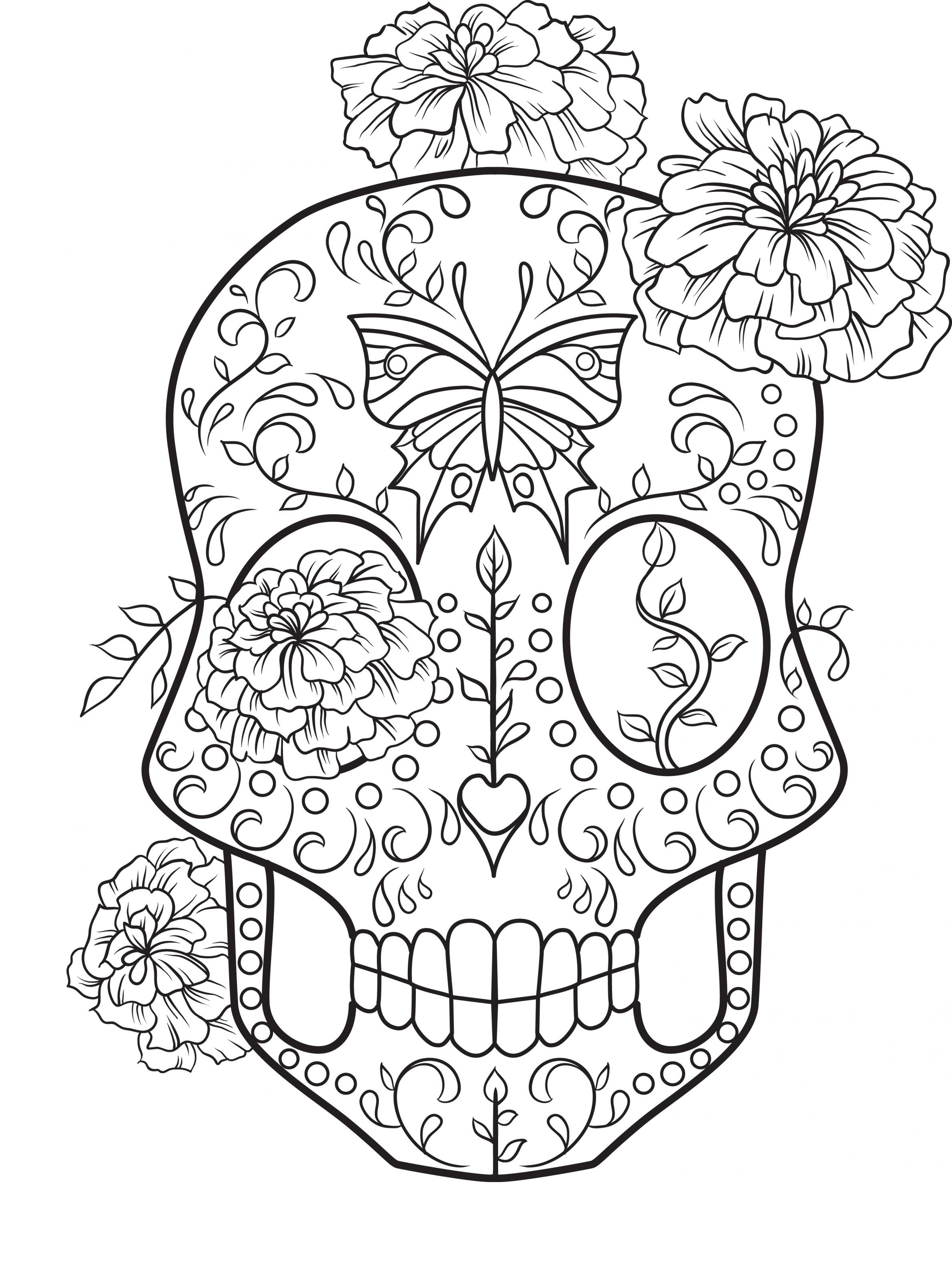 - Sugar Skull Coloring Page - Coloring Home
