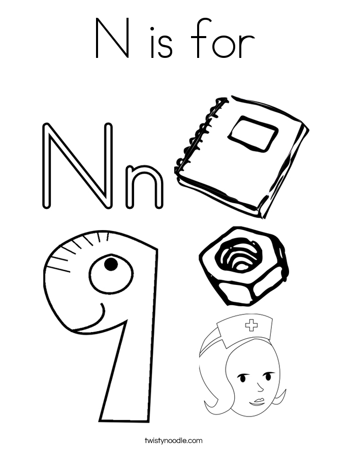 5 letter words starting with pi coloring page things that start with n coloring home 24656