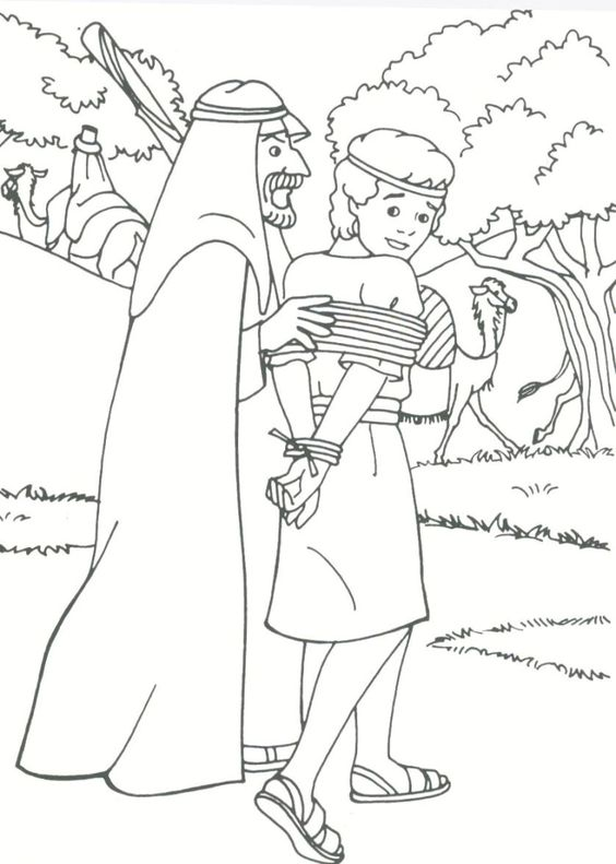 Joseph Sold Into Slavery Coloring Pages - Coloring Home