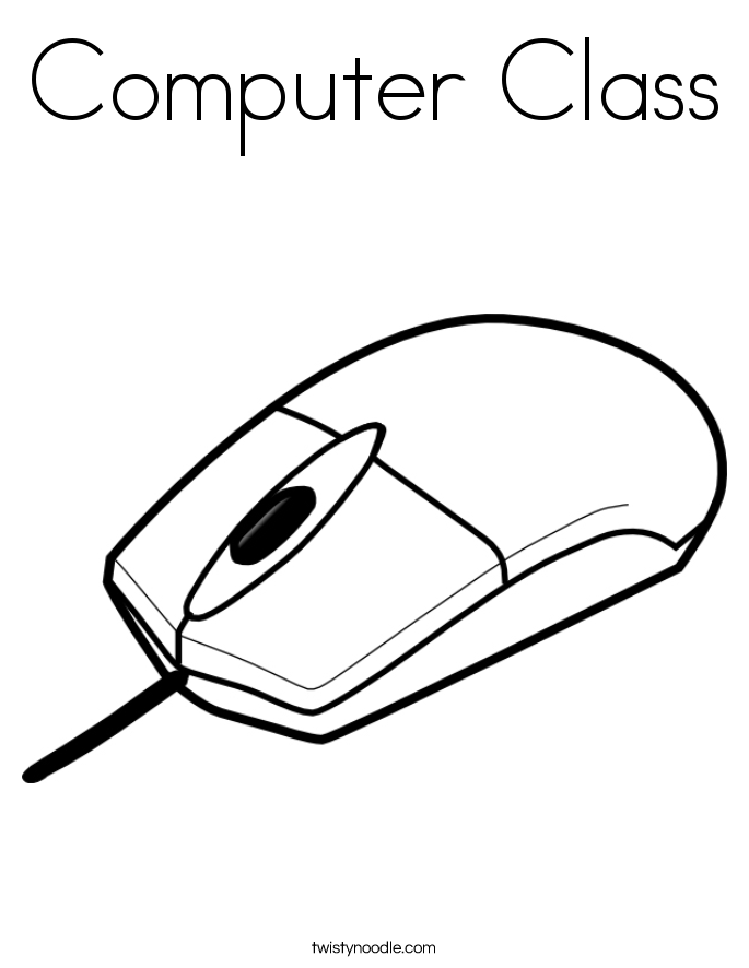 Mouse - Computer Parts Coloring Pages - Coloring Home