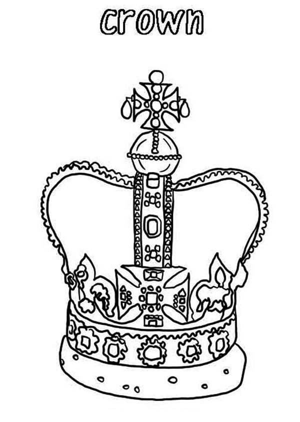 Design Of King Crown In Princess Coloring Page