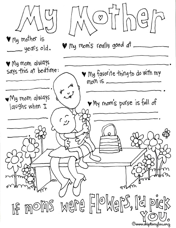 Mother's Day Coloring Pages to Celebrate the BEST Mom | Skip To My Lou