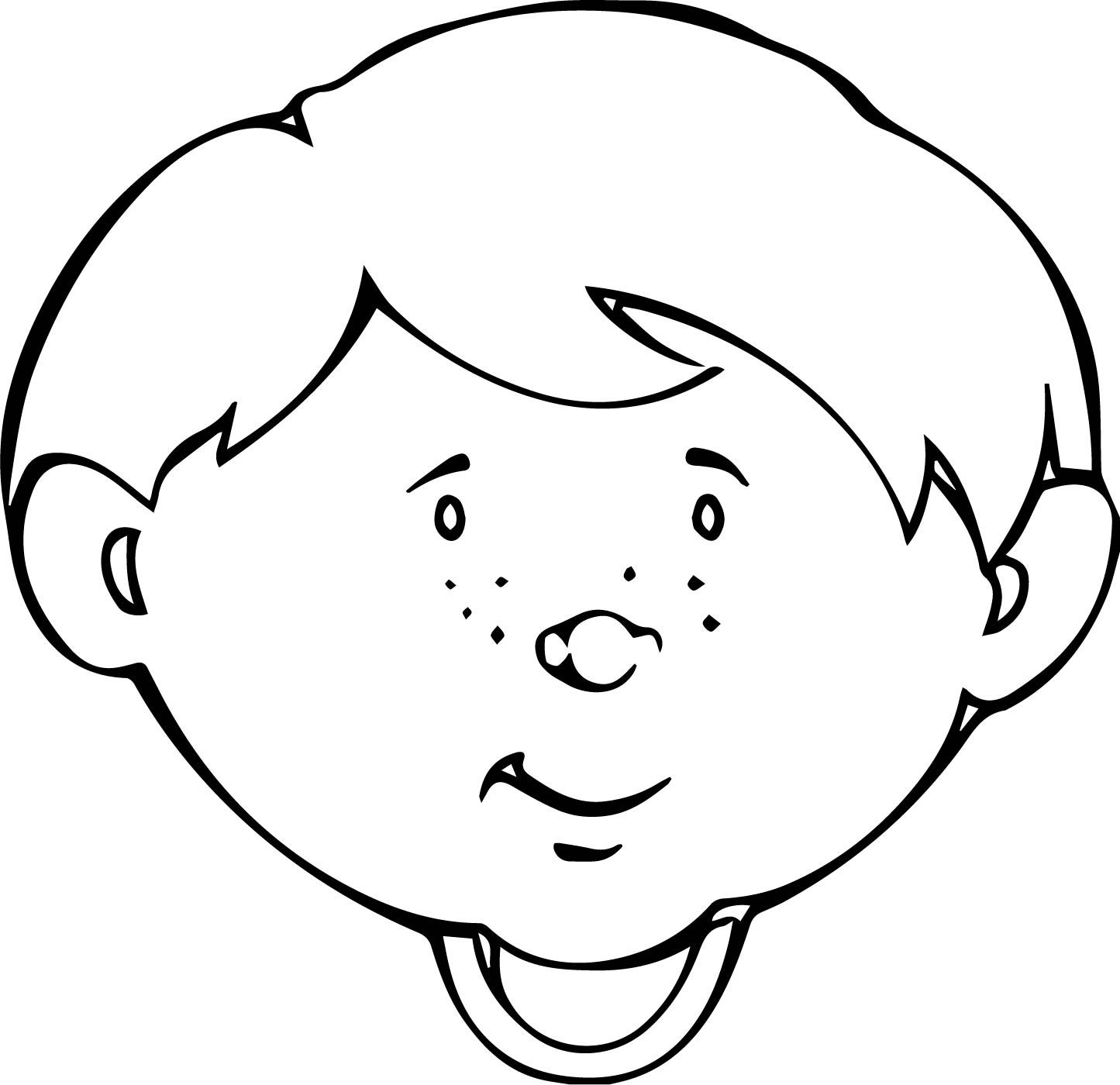 nice Cute Child Face Coloring Page | Coloring pages, Child face, Coloring  pages for kids