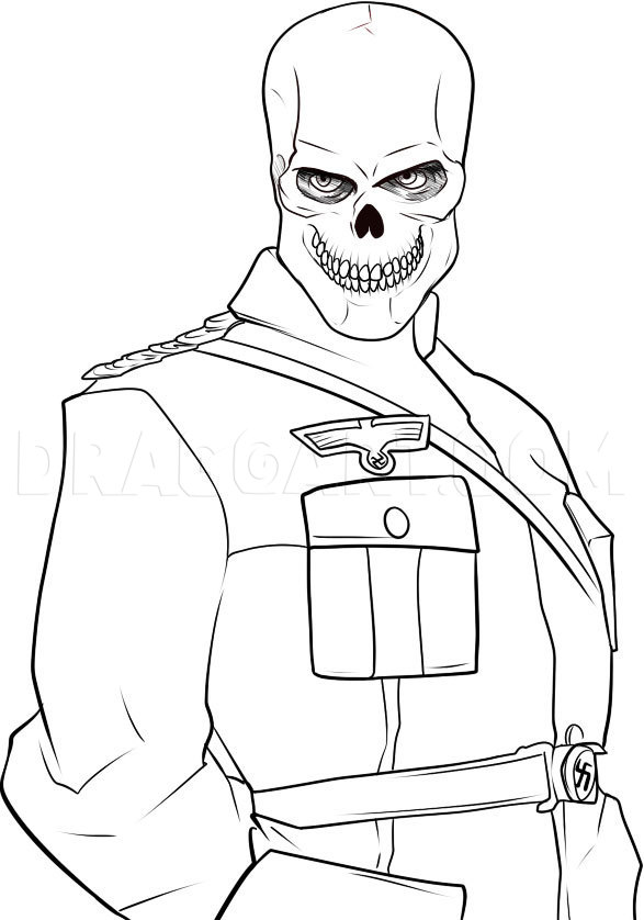 How To Draw The Red Skull, Step by Step, Drawing Guide, by Dawn |  dragoart.com