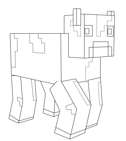 Dot To Dot Minecraft Coloring Pages - Coloring Home