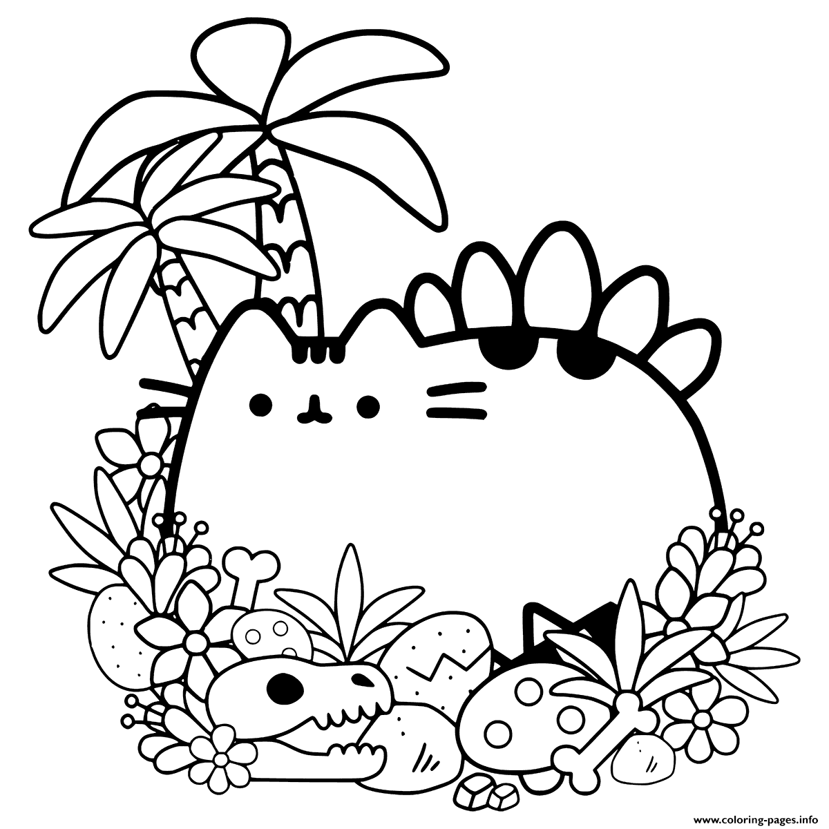 Pusheen Cat Coloring Pages Coloring Home