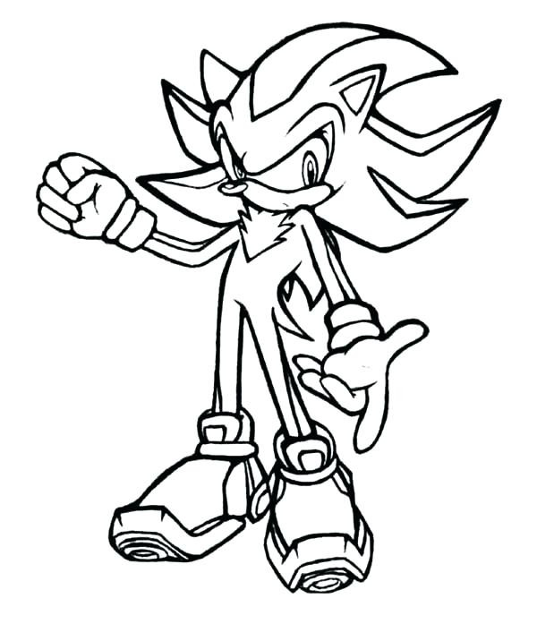 Sonic Shadow Coloring Pages Www.robertdee.org