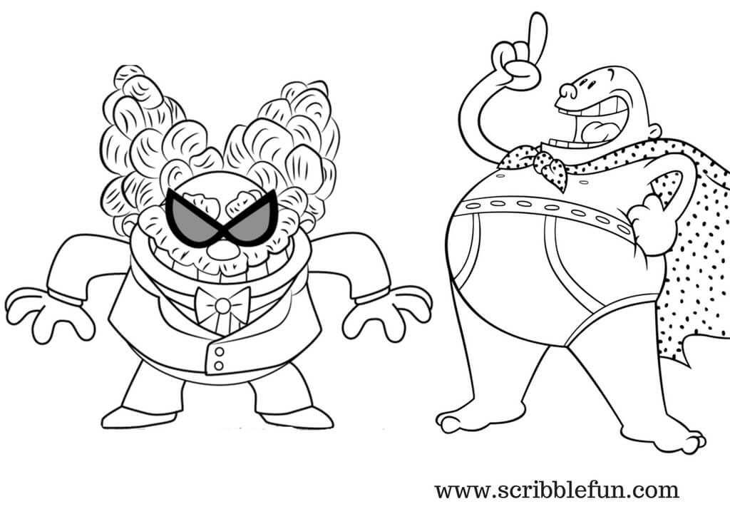 Captain Underpants Coloring Pages Coloring Home