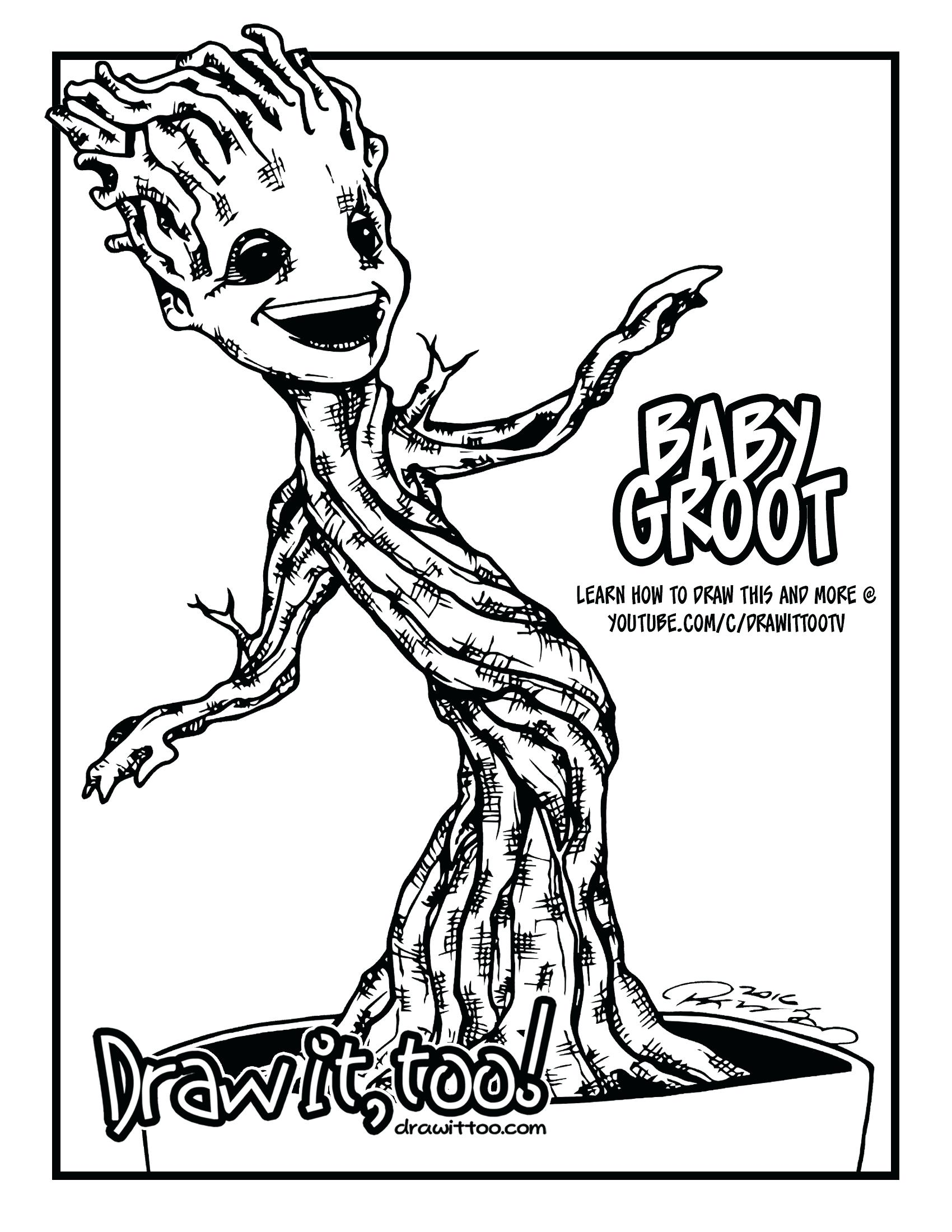 Coloring Pages : Free Groot Coloring Pages To Print Rocket ...