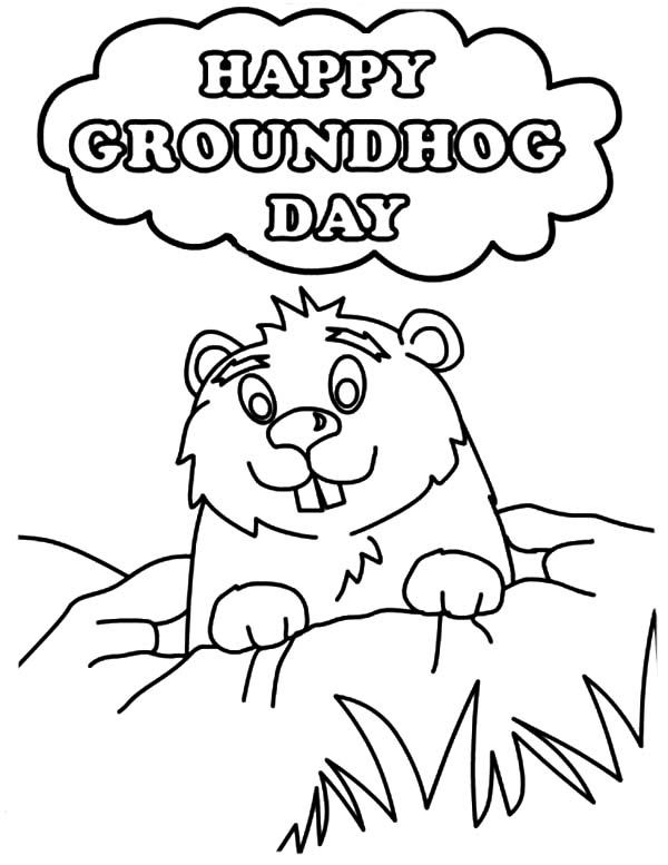 groundhog day coloring pages free printable coloring home - Groundhog Coloring Pages Kids