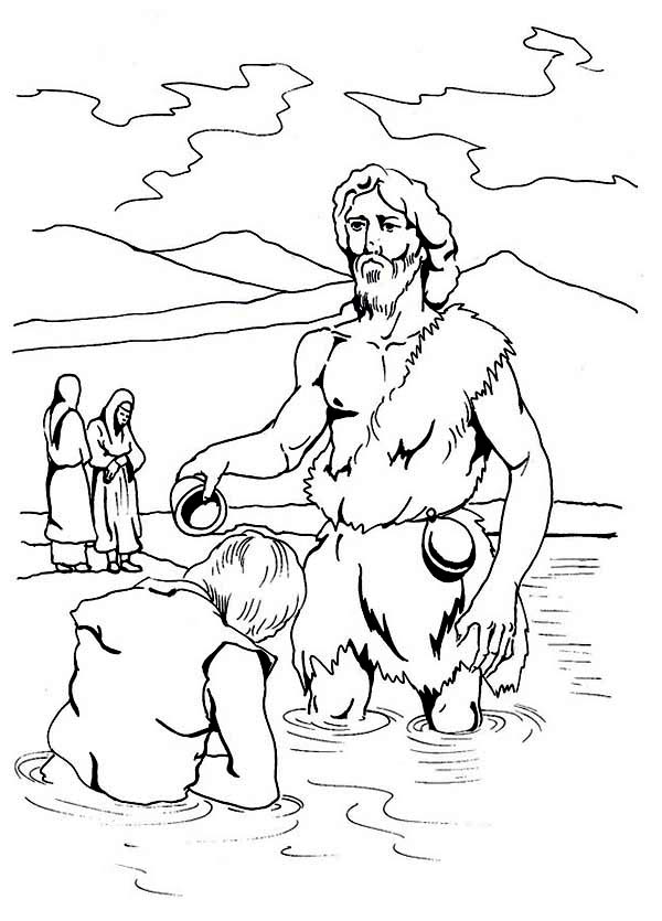 John The Baptist Coloring Page – Children's Ministry Deals | 835x600