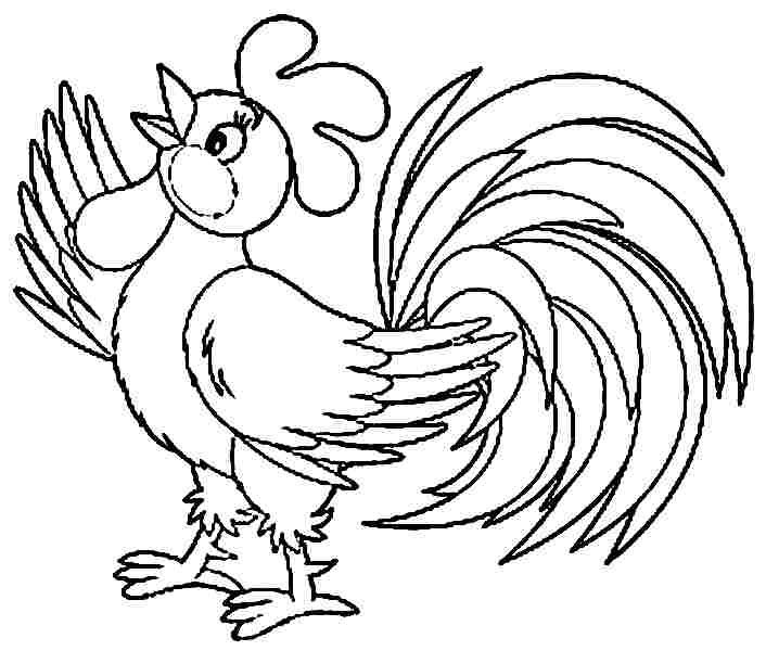 Baby rooster coloring page