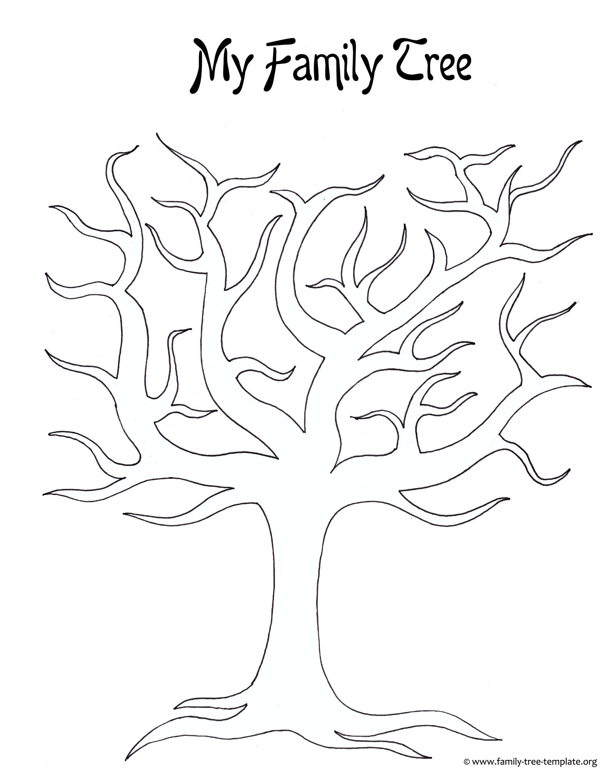 plain family tree template - kids printable family tree coloring home