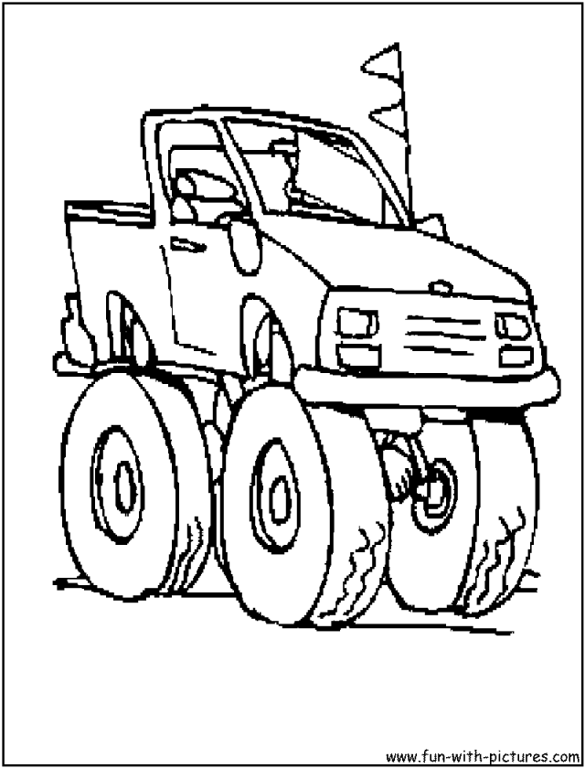 Monster Truck Printable Coloring Pages Grave Digger Monster 230256