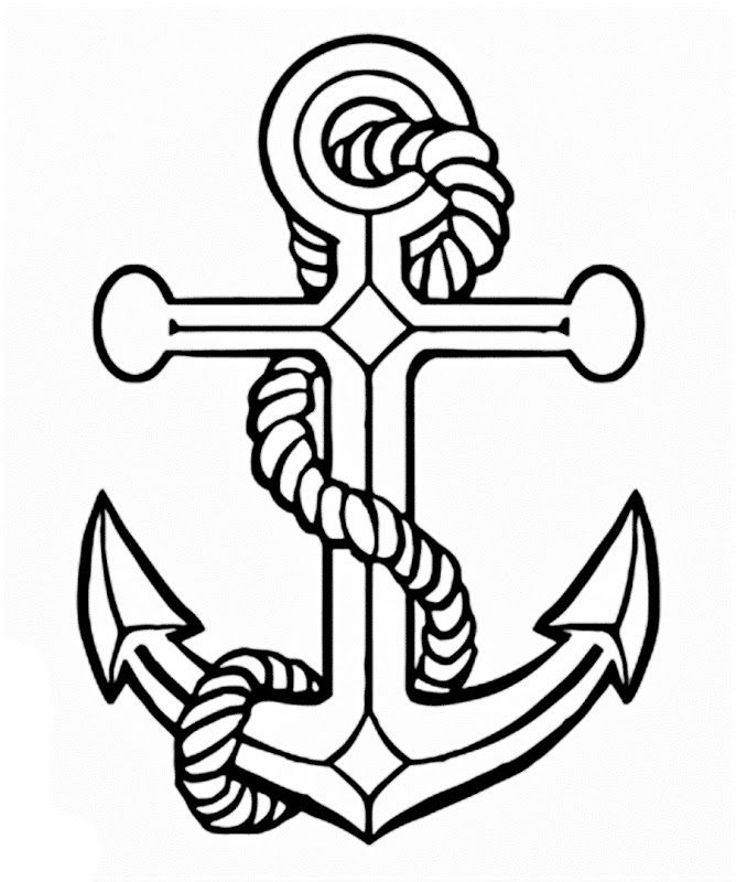 Images of a Anchor coloring pages | Coloring Pages