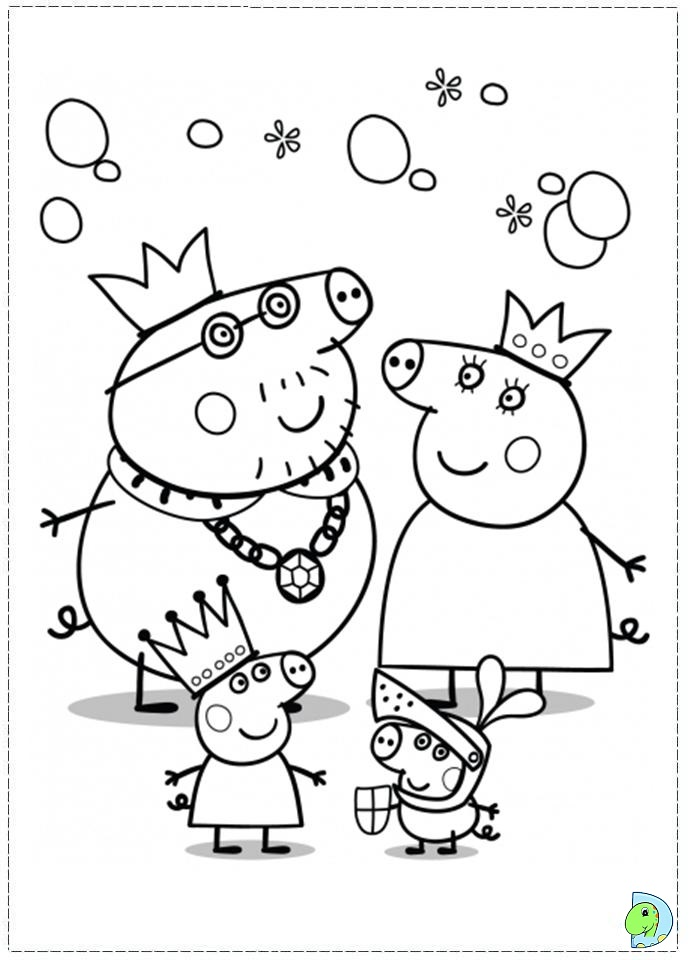 Colouring Pages Peppa Pig