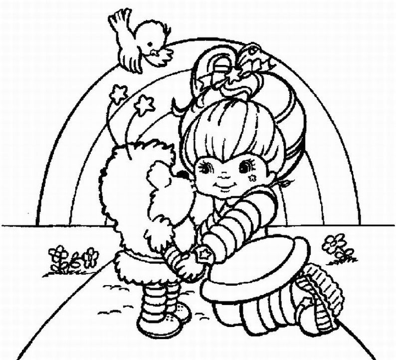 Free Coloring Pages Of Blank Rainbow