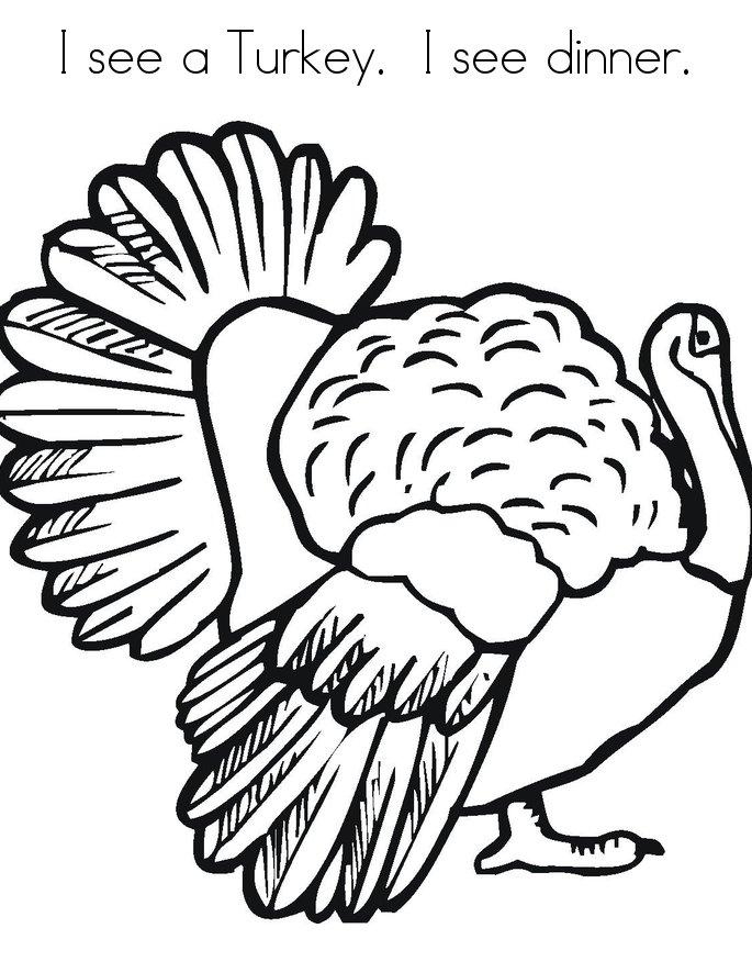 Turkey-Coloring-Pages-For-Kids | COLORING WS